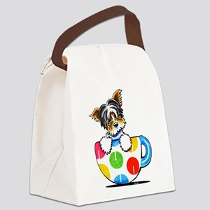 Biewer Yorkie Cup Canvas Lunch Bag