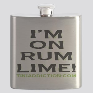 im on rum lime - white Flask