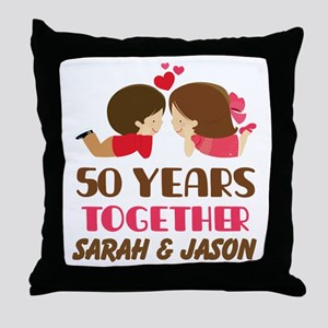 50 Year Anniversary 50th Gift Personalized Throw P
