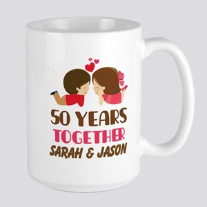 50 Year Anniversary 50th Gift Personalized Mugs