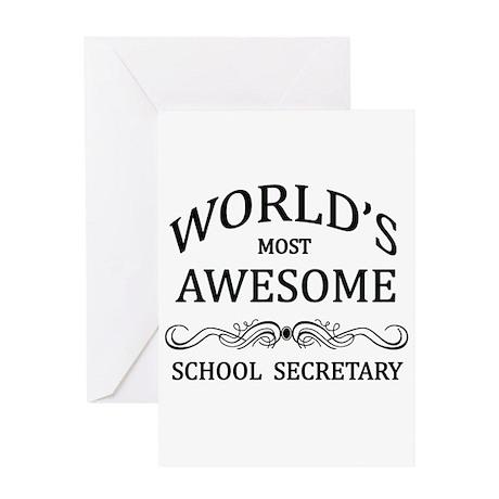 World's Most Awesome School Secretary Greeting Car