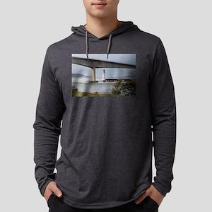 Kyleakin Lighthouse, Skye Bridge Mens Hooded Shirt