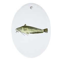 Wels catfish Ornament (Oval)