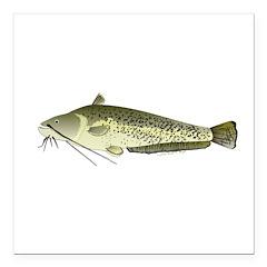 Wels catfish Square Car Magnet 3