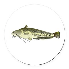 Wels catfish Round Car Magnet