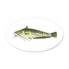 Wels catfish Oval Car Magnet