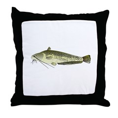 Wels catfish Throw Pillow