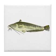 Wels catfish Tile Coaster