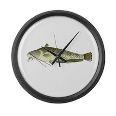 Wels catfish Large Wall Clock