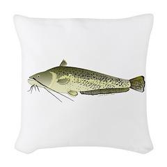 Wels catfish Woven Throw Pillow