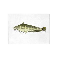 Wels catfish 5'x7'Area Rug