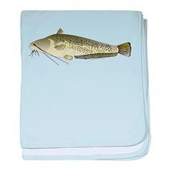 Wels Catfish c baby blanket
