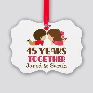 45th Anniversary Personalized Gift Ornament