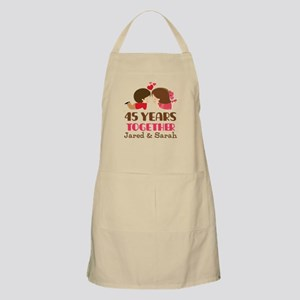 45th Anniversary Personalized Gift Light Apron