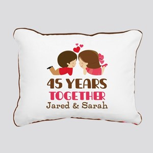 45th Anniversary Personalized Gift Rectangular Can