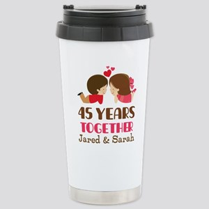45th Anniversary Personalized Gift Mugs