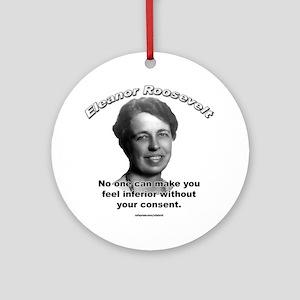 Eleanor Roosevelt 01 Ornament (Round)