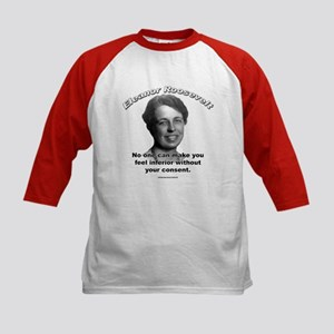 Eleanor Roosevelt 01 Kids Baseball Jersey