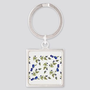 vines of blueberries Keychains