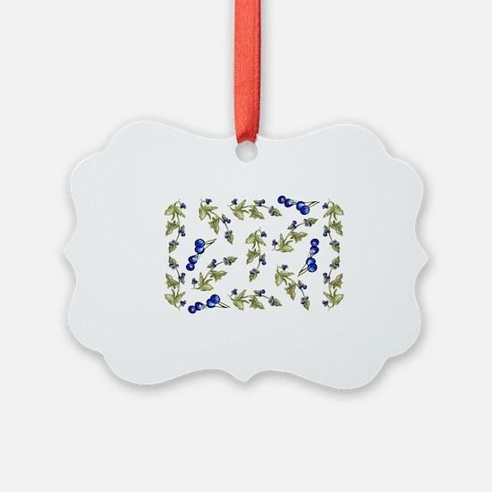 vines of blueberries Ornament