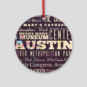 Austin Texas Round Ornament