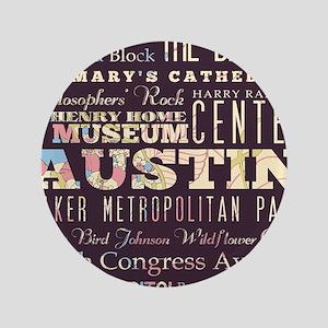 """Austin Texas 3.5"""" Button"""