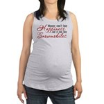 Snowmobiling Maternity Tank Top