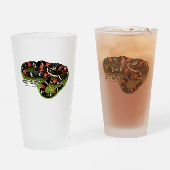 Eastern Ribbon Coral Snake Drinking Glass