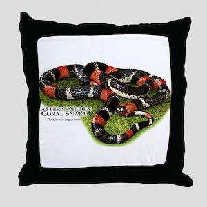 Eastern Ribbon Coral Snake Throw Pillow