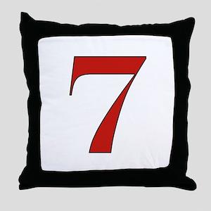 Lucky 7 Throw Pillow