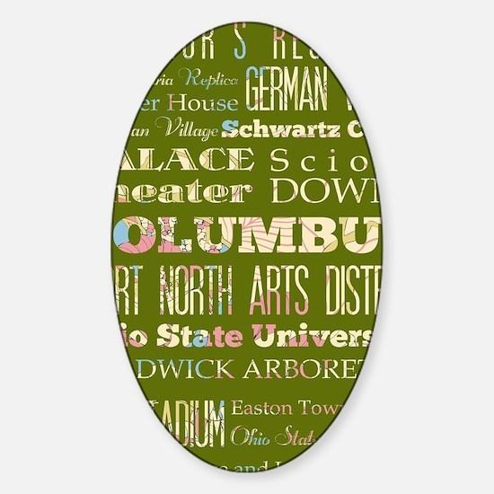 Columbus Ohio Sticker (Oval)