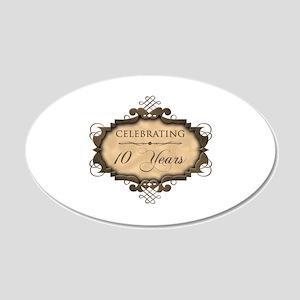 10th Wedding Aniversary (Rustic) 20x12 Oval Wall D
