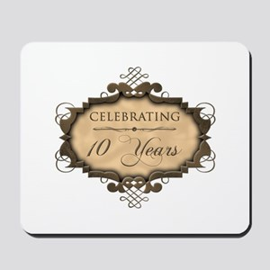 10th Wedding Aniversary (Rustic) Mousepad