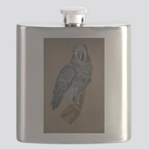 African Timneh Grey Flask