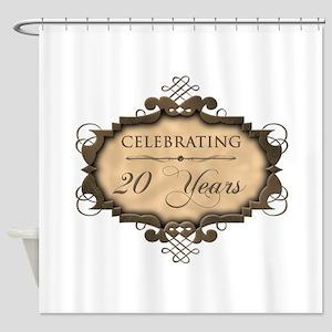 20th Wedding Aniversary (Rustic) Shower Curtain