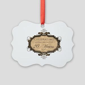 20th Wedding Aniversary (Rustic) Picture Ornament
