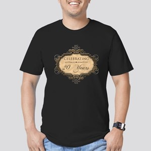 20th Wedding Aniversary (Rustic) Men's Fitted T-Sh