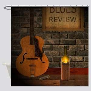 Blues Review Shower Curtain