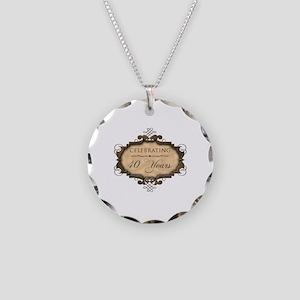 40th Wedding Aniversary (Rustic) Necklace Circle C