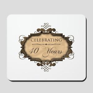 40th Wedding Aniversary (Rustic) Mousepad