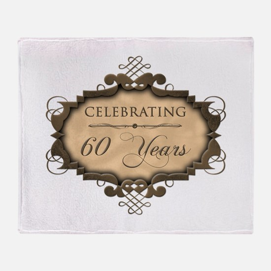 60th Wedding Aniversary (Rustic) Throw Blanket