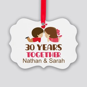 30th Anniversary Personalized Gift Ornament