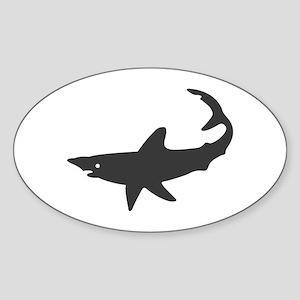 Black Shark Oval Sticker