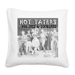 Hot Taters Square Canvas Pillow