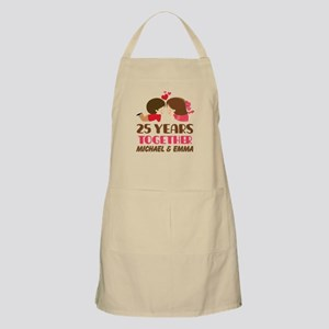 25th Anniversary Personalized Gift Light Apron