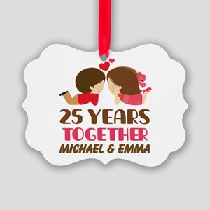 25th Anniversary Personalized Gift Ornament