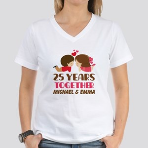 25th Anniversary Personalized Gift T-Shirt
