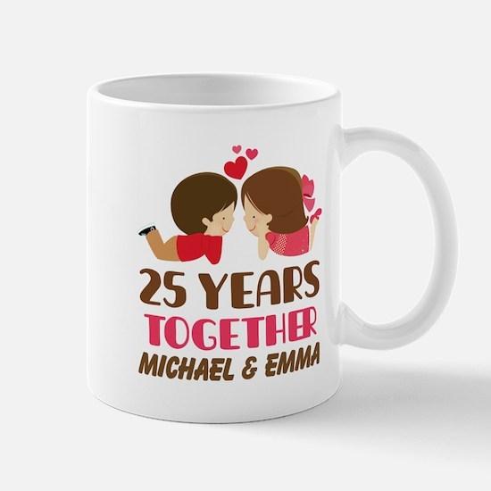 25th Anniversary Personalized Gift Mugs