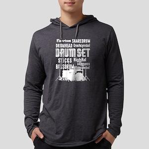 Drum Set Shirt - Drum Set Word C Mens Hooded Shirt