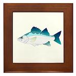 White Perch Framed Tile